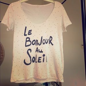 Soft Anthropologie Cotton TLA French Tee